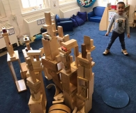 Block Play in the Blue Room